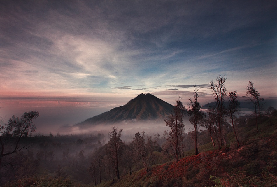 A piece of fine art art photography titled View of Ijen by nico fredia