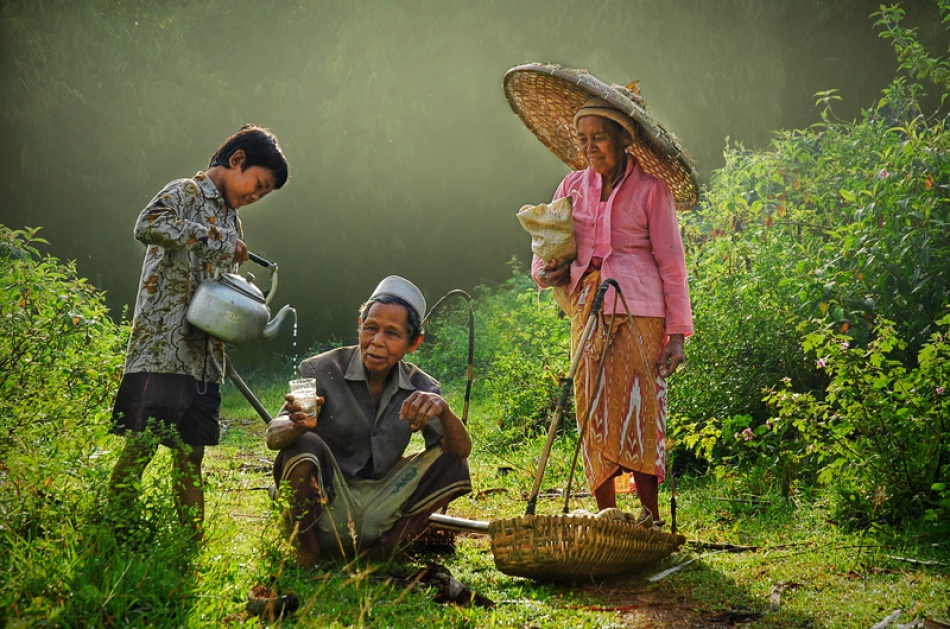 A piece of fine art art photography titled Story of Family Farmer by A.madestra. W
