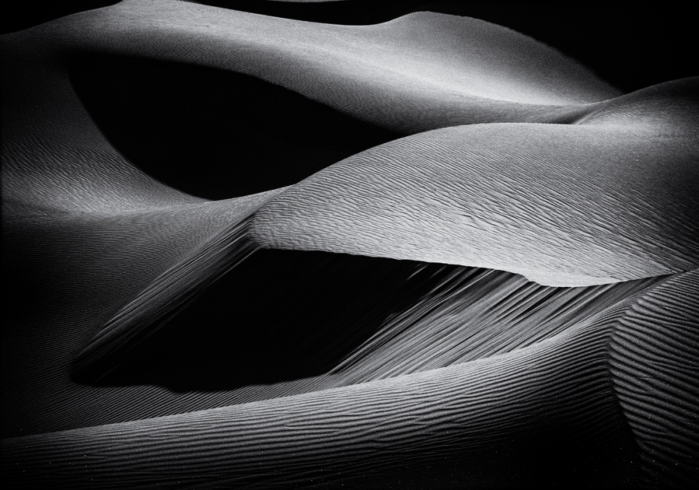 A piece of fine art art photography titled Shapes of the Dunes by Simon ChengLu