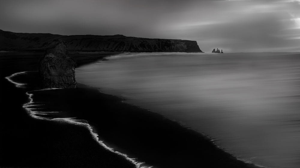 A piece of fine art art photography titled Reynisfjara Beach by Alex Lu
