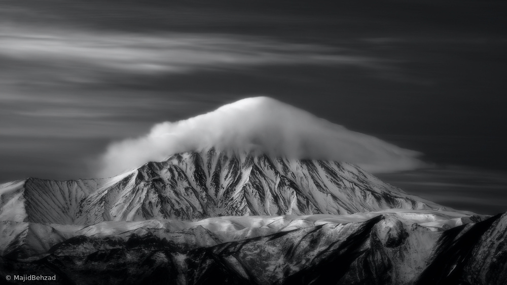 View this piece of fine art photography titled Dreamy Light On Mount Damavand by Majid Behzad