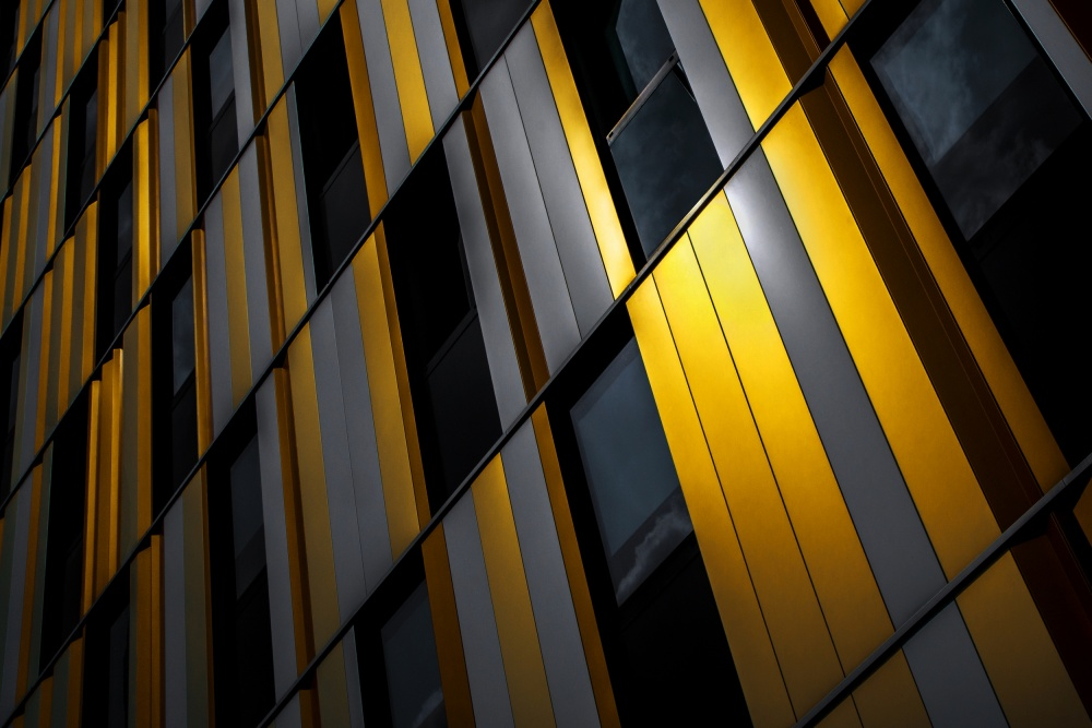 A piece of fine art art photography titled Yellow Wall by Gilbert Claes
