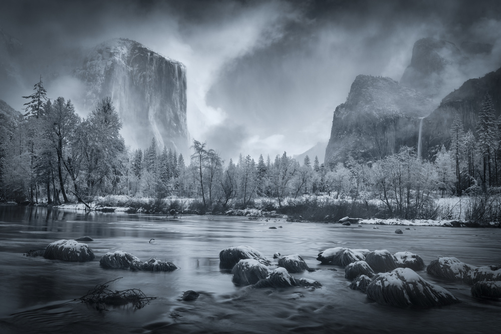 A piece of fine art art photography titled Storm Clearing In Valley View by weilian
