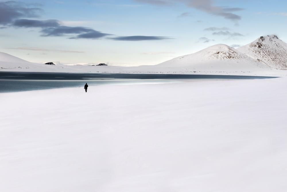 A piece of fine art art photography titled Lost In Iceland by Liloni Luca