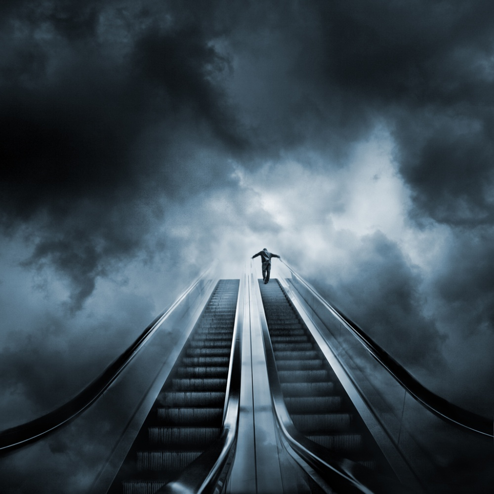 A piece of fine art art photography titled Stairs to Heaven by Miquel Planells