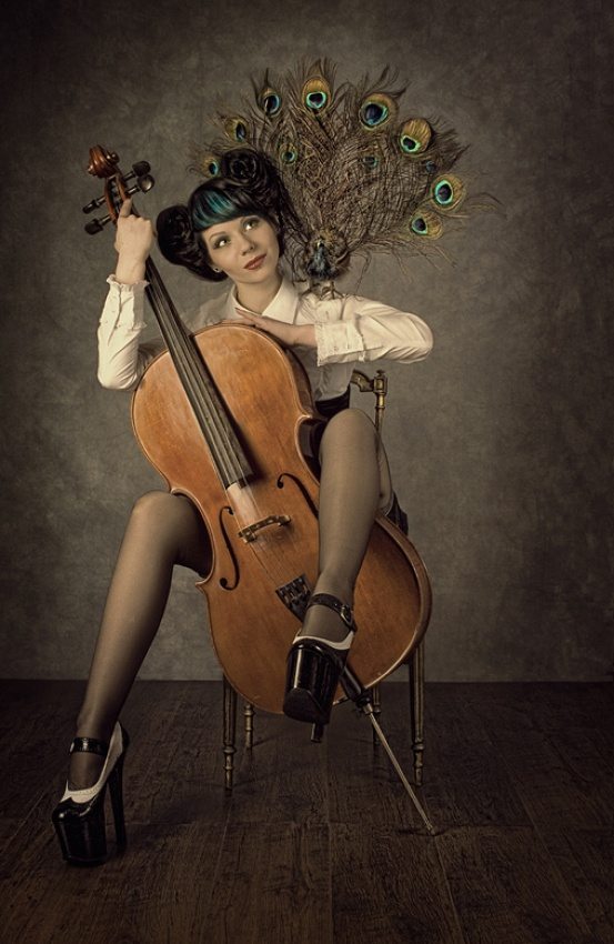 A piece of fine art art photography titled In Love With  by Peter Kemp