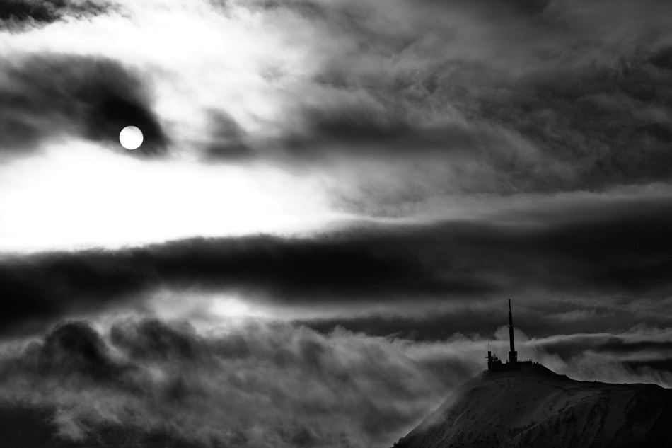 A piece of fine art art photography titled When the Sun Become the Moon by Hippolyte