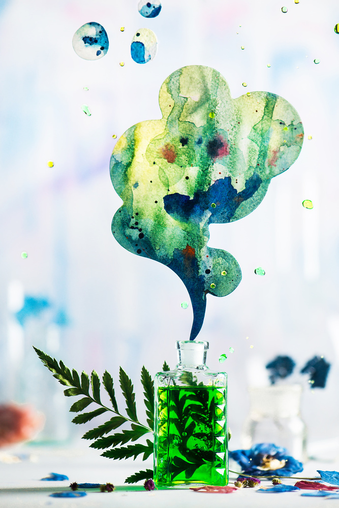 A piece of fine art art photography titled Summer Perfume (Green) by Dina Belenko