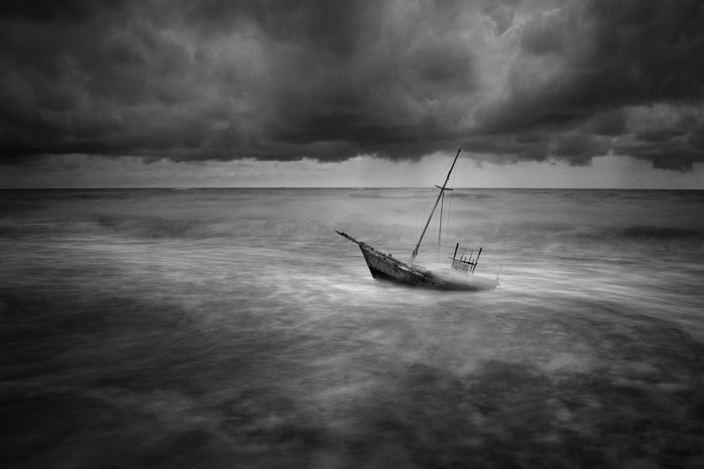 A piece of fine art art photography titled The Storm by muhammad muttaqin