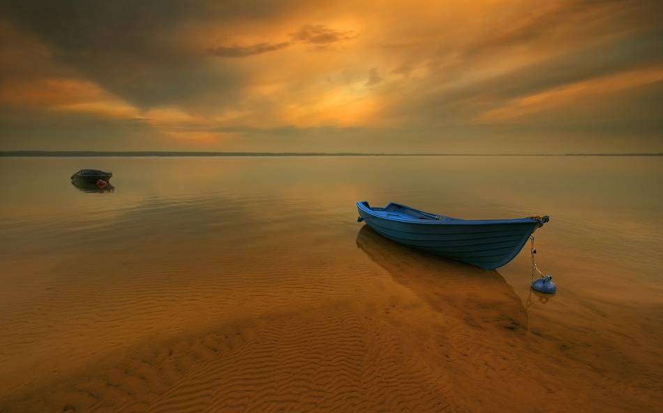 A piece of fine art art photography titled Boat by Krzysztof Browko