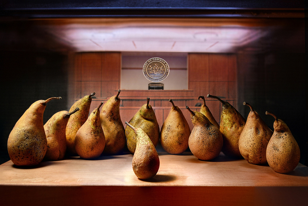 A piece of fine art art photography titled Judged by a Jury of Your Pears by Paul Wullum