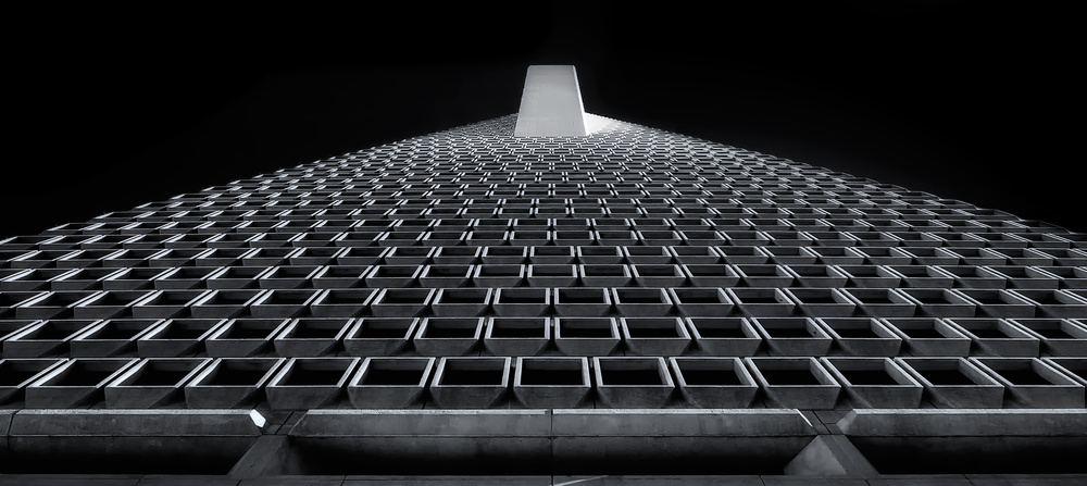 A piece of fine art art photography titled Transamerica 2 by David Rothstein