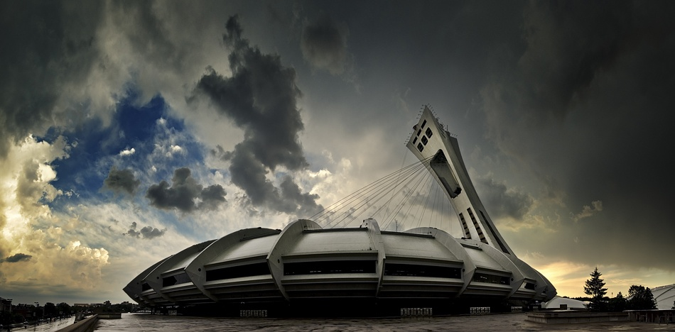 A piece of fine art art photography titled Montreal Olympic Stadium by Mario Jean