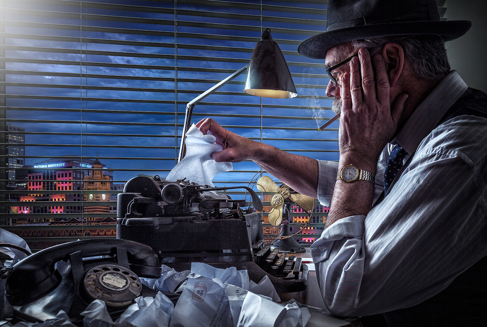 A piece of fine art art photography titled Writer's Block 2 by Adrian Donoghue