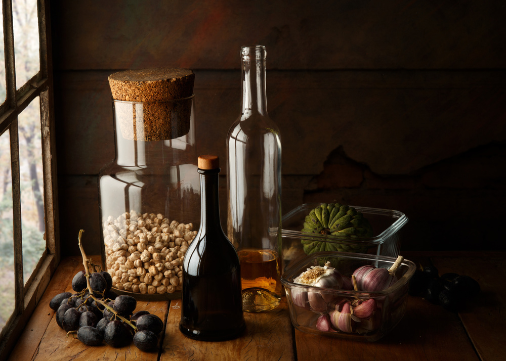 A piece of fine art art photography titled Still Life With Chickpea by Luiz Laercio