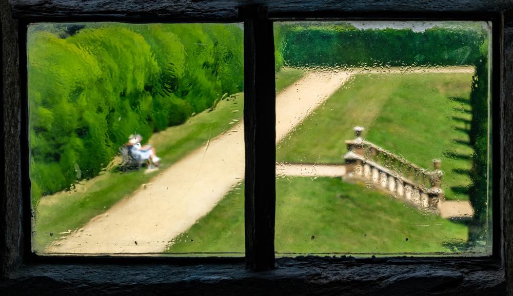 Through an old window