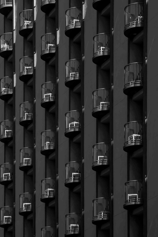 A piece of fine art art photography titled Balconies On Pico Boulevard by Roxana Labagnara