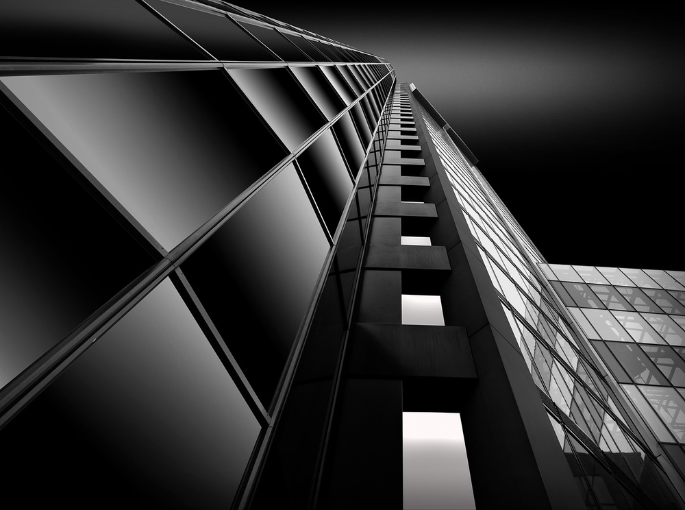 A piece of fine art art photography titled Downtown Frankfurt by Wolfgang Mothes
