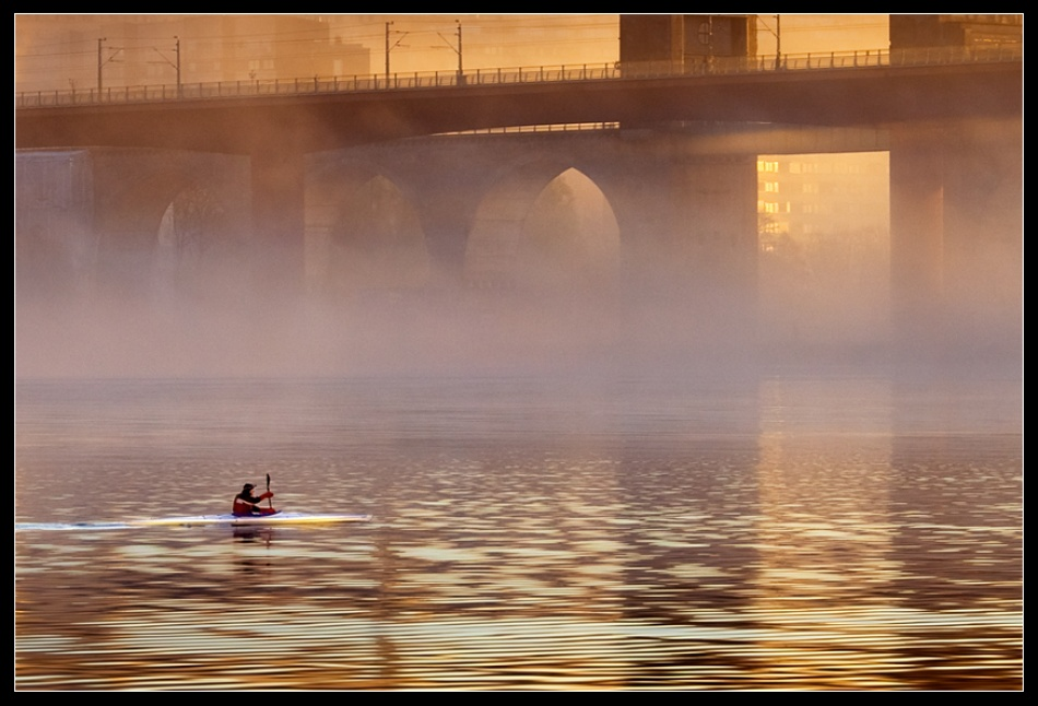 A piece of fine art art photography titled Morning Glow 3 by Roger Arleryd