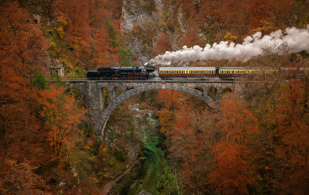 A piece of fine art art photography titled Museum Train by Ales Krivec