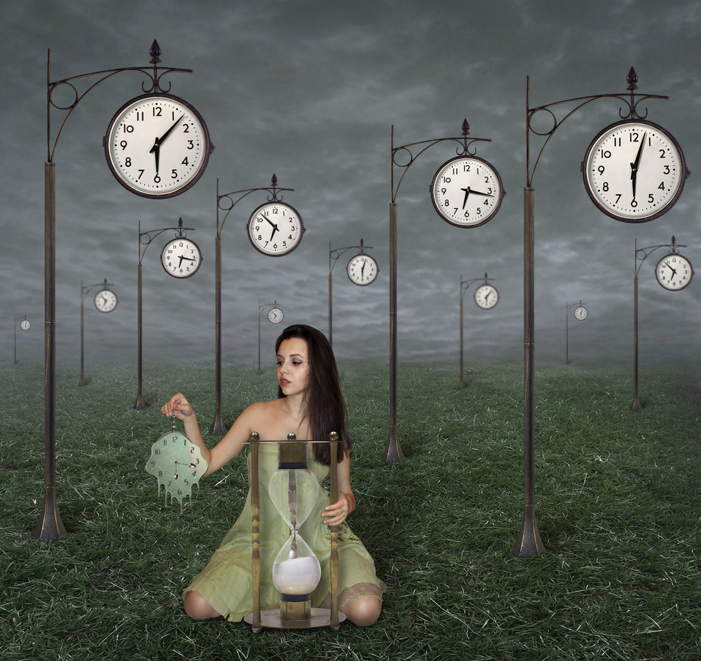 A piece of fine art art photography titled Infinity of Time by Iryna Kuznetsova (Iridi)