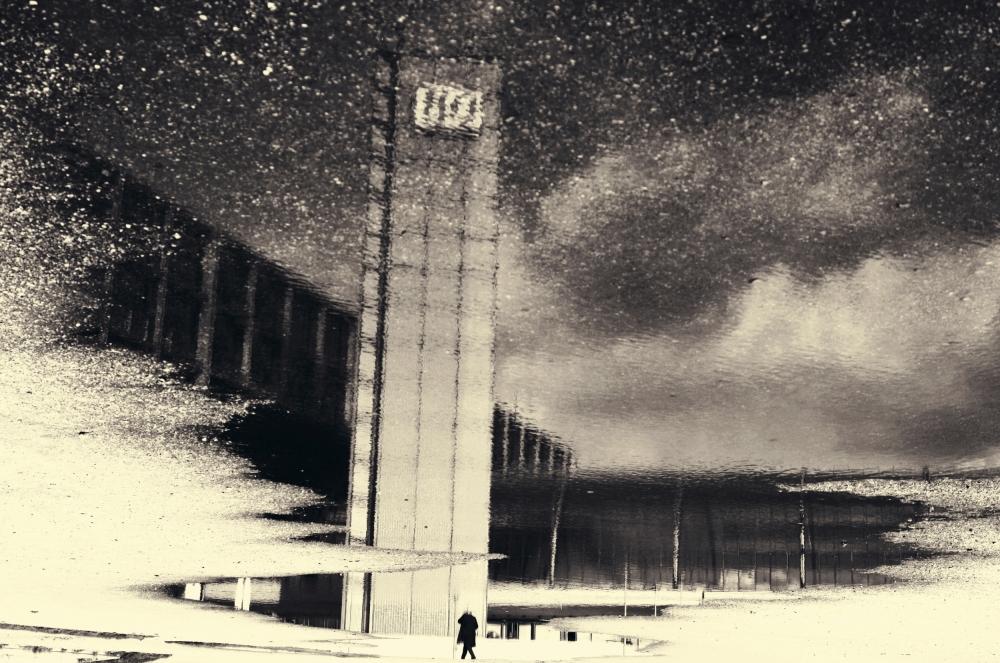 A piece of fine art art photography titled City-desert by Anja Buehrer