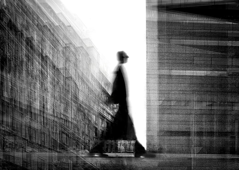 A piece of fine art art photography titled Traveler Through Time by Mirela Momanu