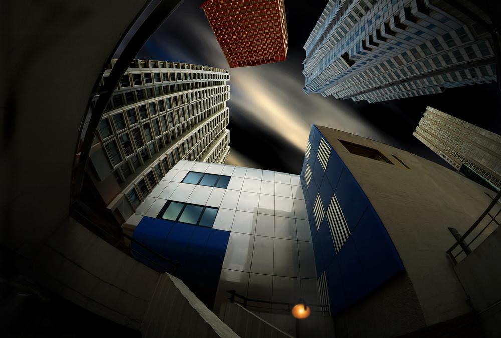 A piece of fine art art photography titled Bleu Comme L'enfer by pierre bacus
