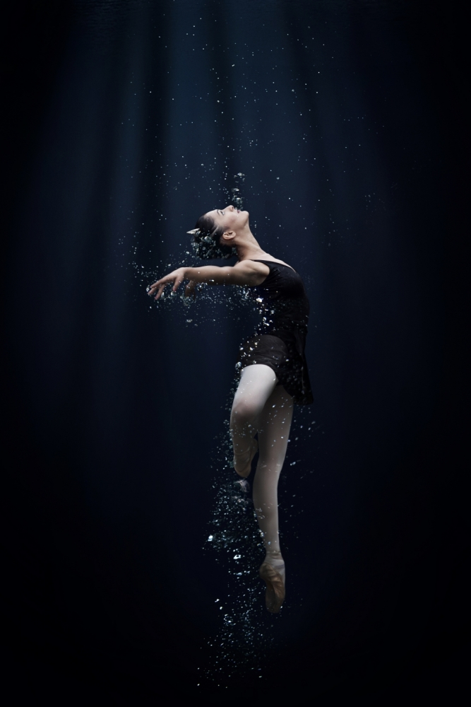 A piece of fine art art photography titled Dance In the Water by Semra Halipoglu