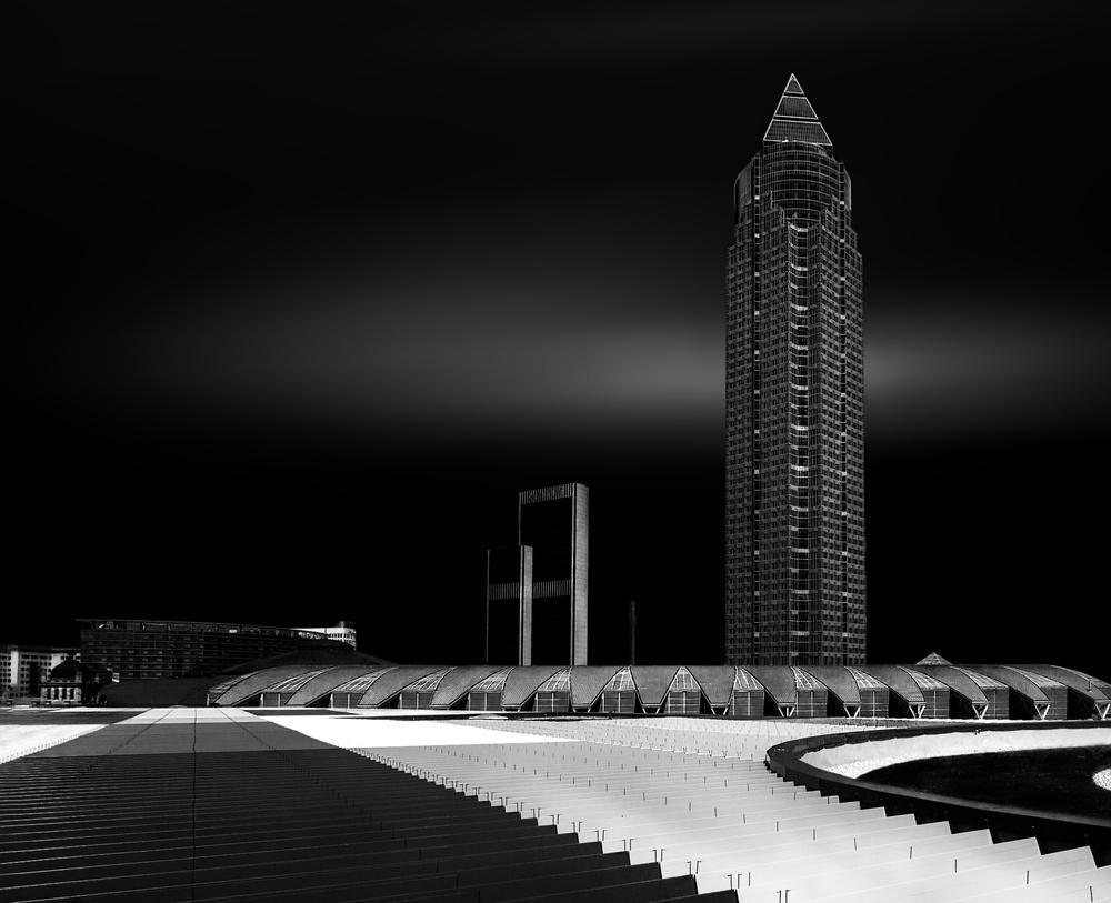 A piece of fine art art photography titled Messeturm Frankfurt by Adam Fritzen