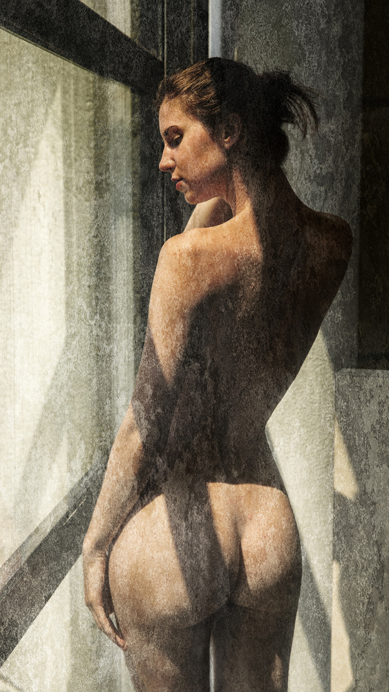 A piece of fine art art photography titled Dirty Window Pane by Jan Slotboom