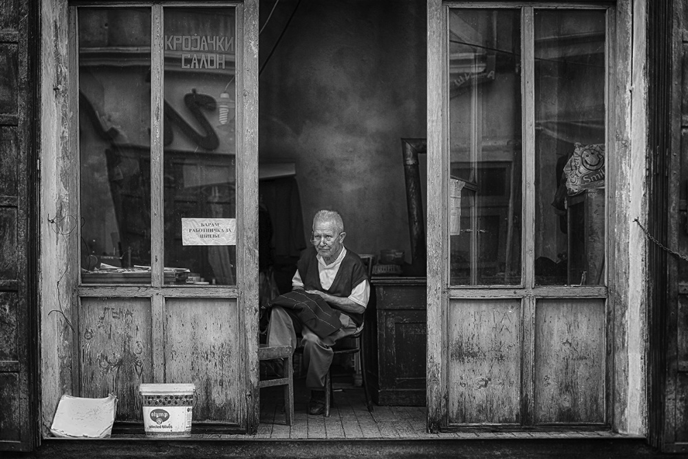 A piece of fine art art photography titled Tailor by Kosta Dupcinov