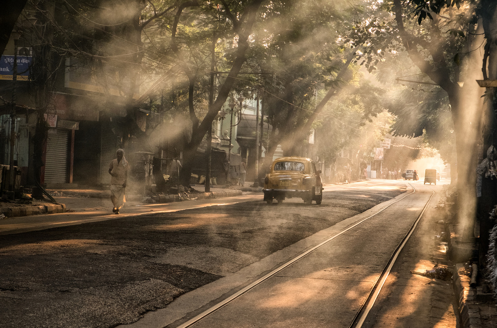 A piece of fine art art photography titled Morning Time In Kolkata by Andrei Nicolas - The Traveler