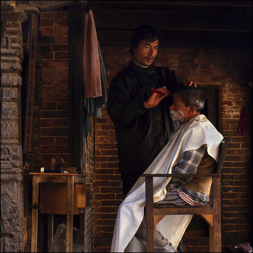 A piece of fine art art photography titled The Barbershop by sensorfleck