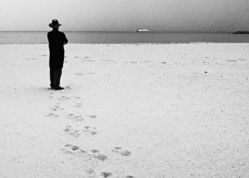 A piece of fine art art photography titled A Cold, Lonely Goodbye by Peter Rose