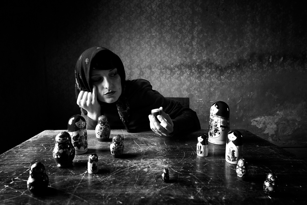 A piece of fine art art photography titled From Russia With Love by mario grobenski - psychodaddy