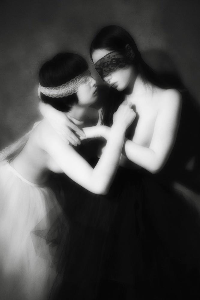 A piece of fine art art photography titled Dialectique De L'ange by Hajime YOSHIDA