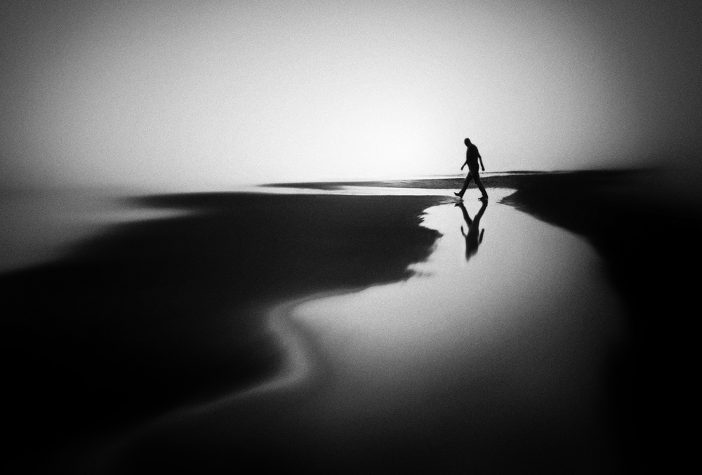 A piece of fine art art photography titled West Coast Reflections by Marianne Siff Kusk
