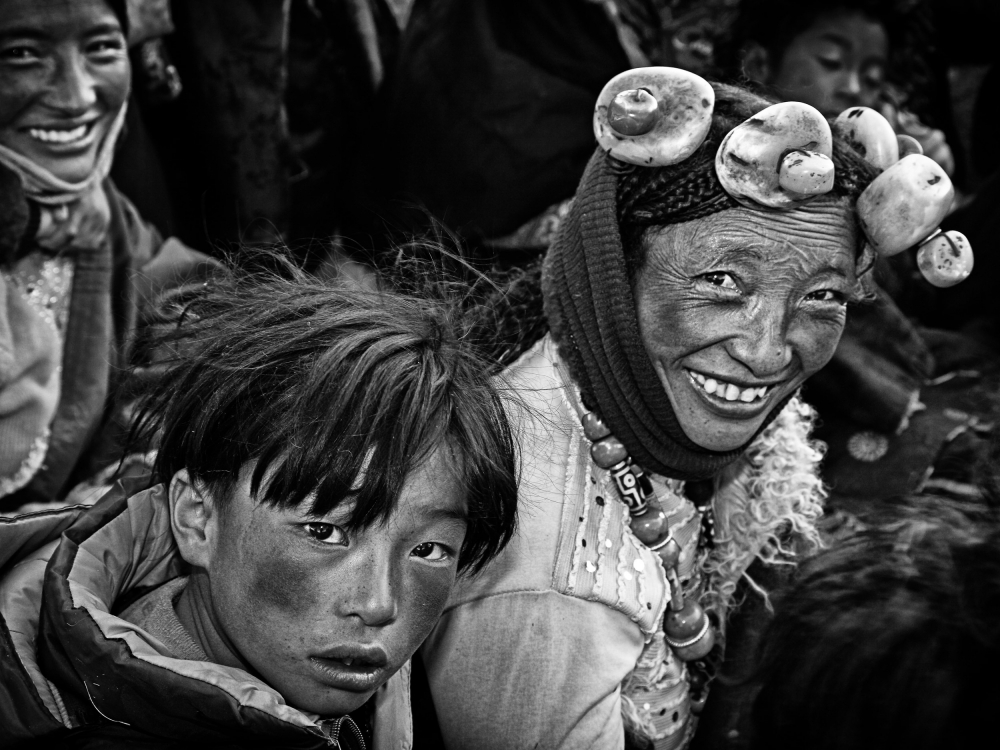 A piece of fine art art photography titled Friendly Villagers by BJ Yang