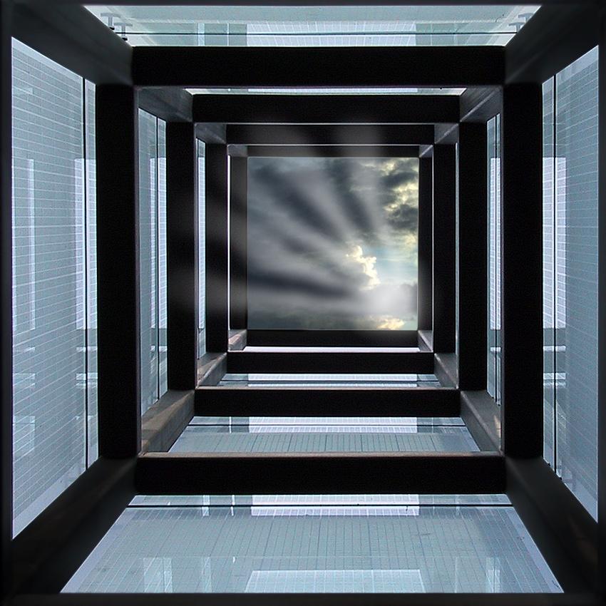 A piece of fine art art photography titled Holocaust Memorial by Jes Eriksen