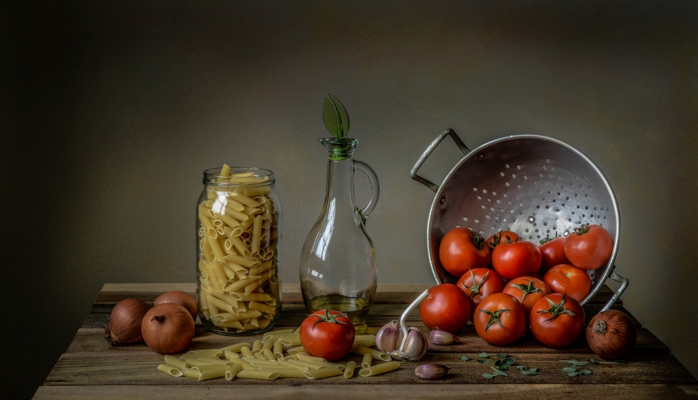 A piece of fine art art photography titled Una Buona Pasta! by Margareth Perfoncio