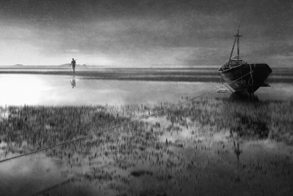 A piece of fine art art photography titled Link to the Sea by Ekkachai Khemkum