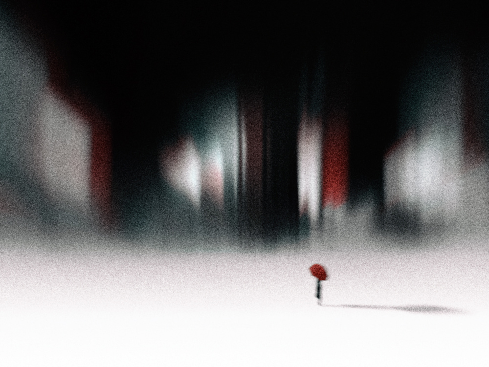 A piece of fine art art photography titled Cold Red by SOFIA MIRA