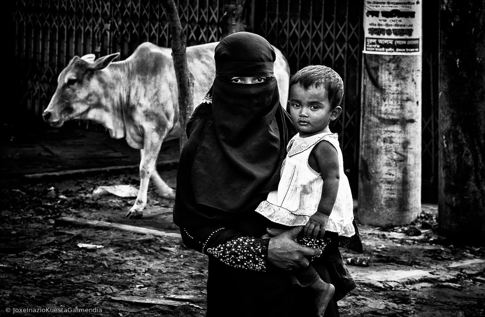 View this piece of fine art photography titled In the streets of Bangladesh. by pe be