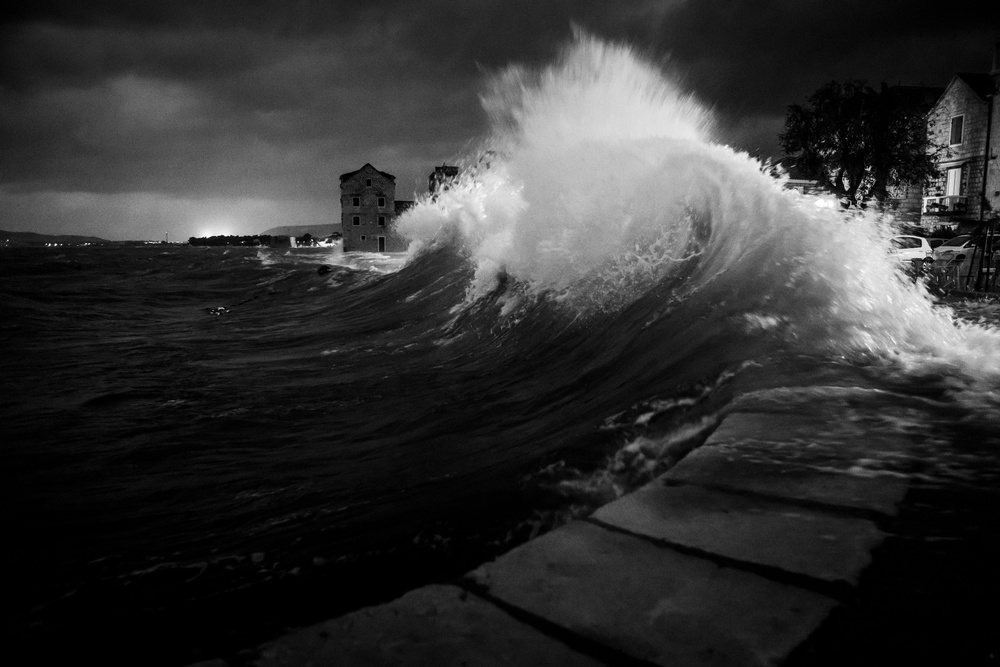 A piece of fine art art photography titled Stormy Night by Branimir Dzaja