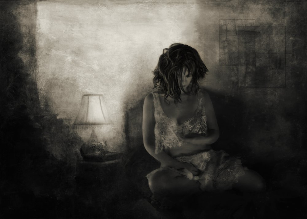 A piece of fine art art photography titled How Secretly and Silently My Sorrow Appears by Charlaine Gerber