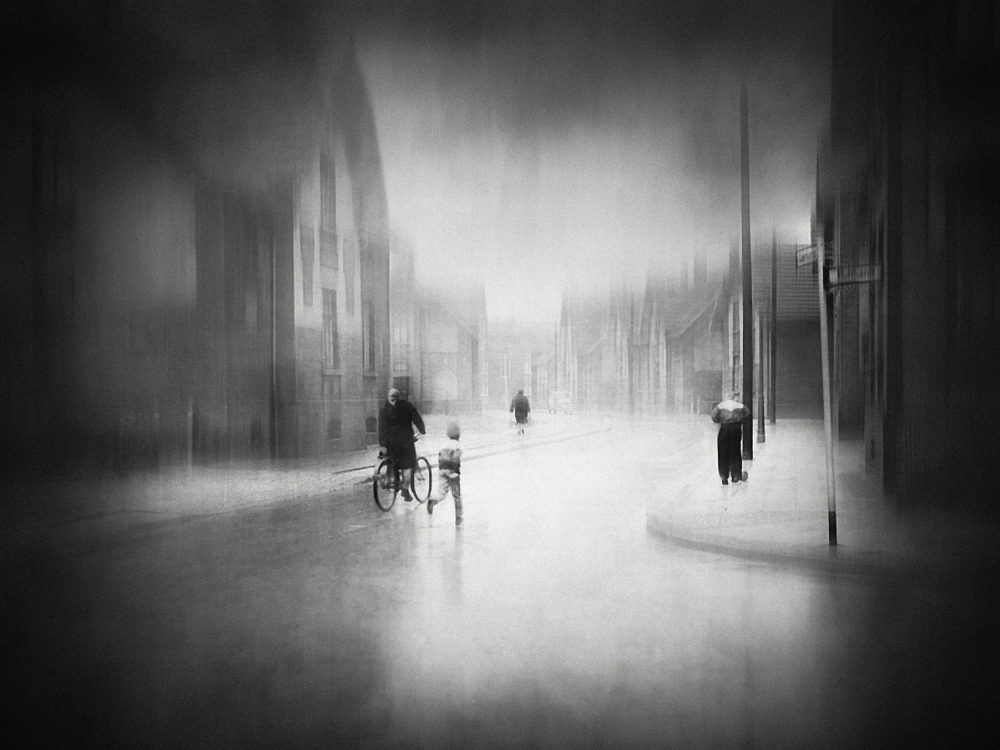 A piece of fine art art photography titled On the Street by holger droste