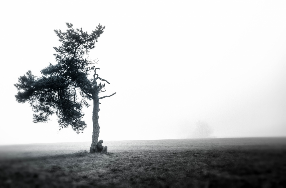 A piece of fine art art photography titled Sometimes When I´m Down and Out by Klaus Grimm