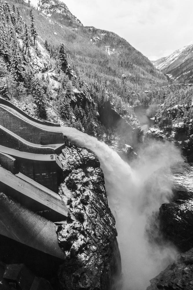 A piece of fine art art photography titled A Cascade Runs Through It by Francois Roughol