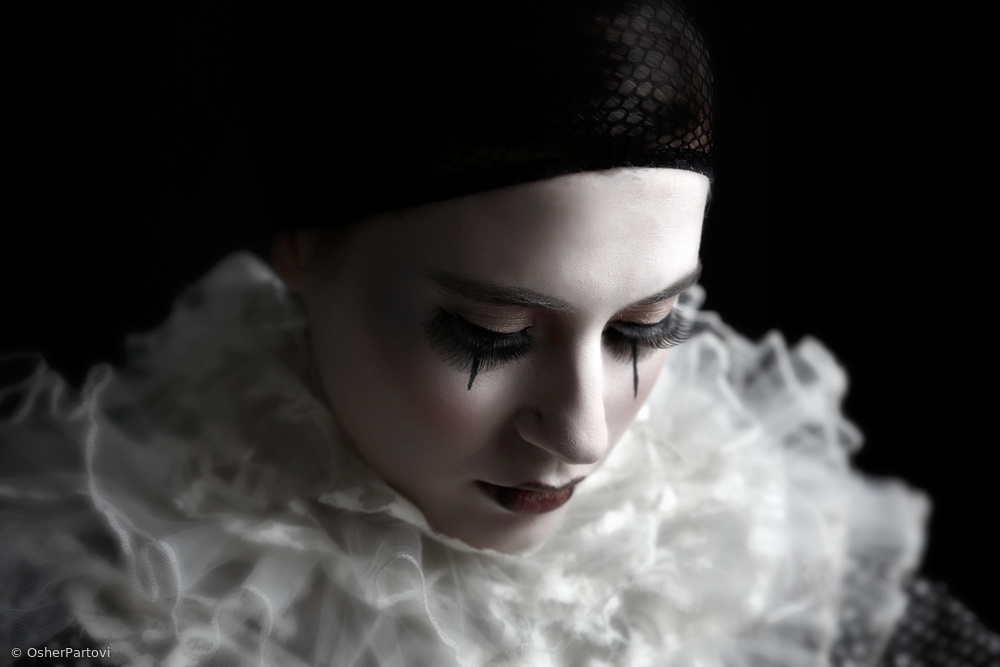 """View this piece of fine art photography titled """"pierrot"""" - 2 by Osher Partovi"""